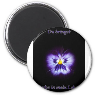 Blume Farbe Magnet