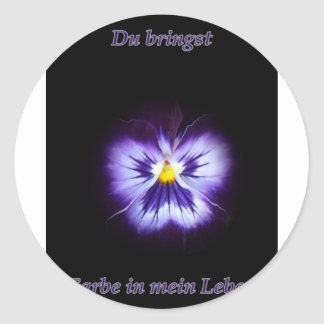 Blume Farbe Round Stickers