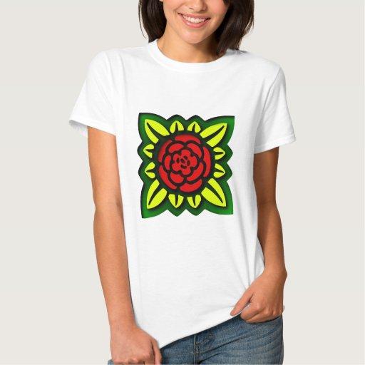 Blume Quadrat flower square T-shirt