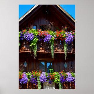 Blumenbalkone a Holzhaus en la selva negra, Póster