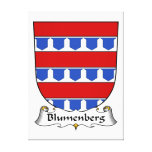 Blumenberg Family Crest Gallery Wrapped Canvas