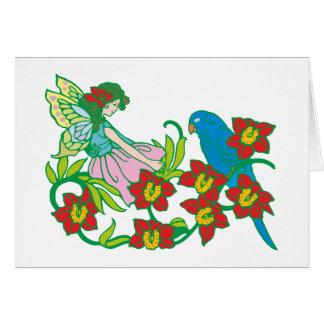 Blumenfee more flower fairy greeting card