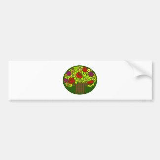 Blumengesteck flower arrangement bumper sticker