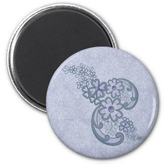 Blumenornament - Floral Florishes Magnet