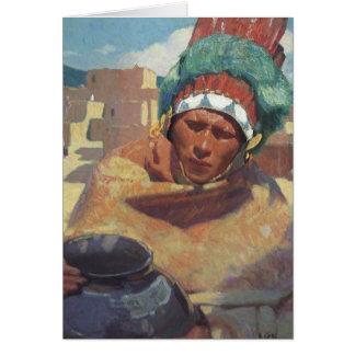 Blumenschein, Taos Native American Indian Portrait Card