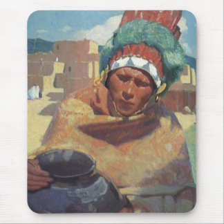 Blumenschein, Taos Native American Indian Portrait Mouse Pad