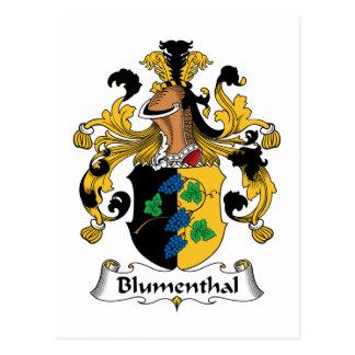 Blumenthal Family Crest Postcard