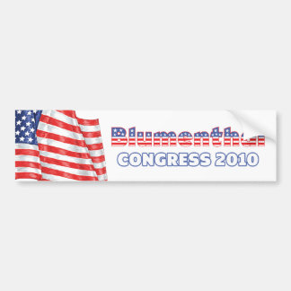 Blumenthal Patriotic American Flag 2010 Elections Bumper Sticker