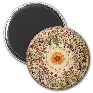 Blumenuhr Flower Clock Magnet