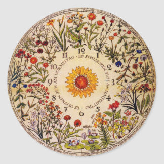 Blumenuhr Flower Clock Sticker
