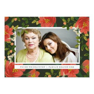 Blumenweihnachtskarte Card