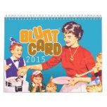 Bluntcard 2015 wall calendar