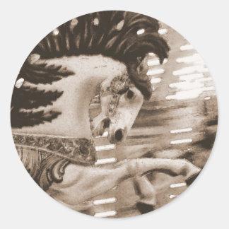 Blur #8 Horse Classic Round Sticker