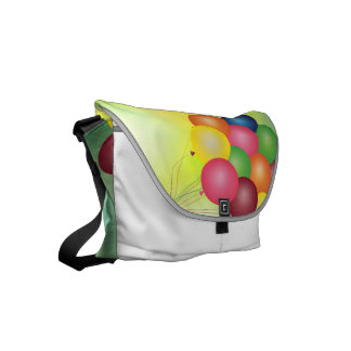 Blur balloons small messenger bag