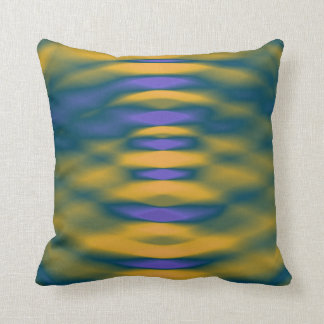 Blur Drop of Water Creating Ripples Throw Pillow
