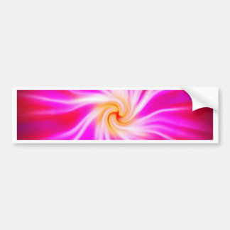 Blur Effects Glow Rise Fade Pinkish Circle Round Car Bumper Sticker