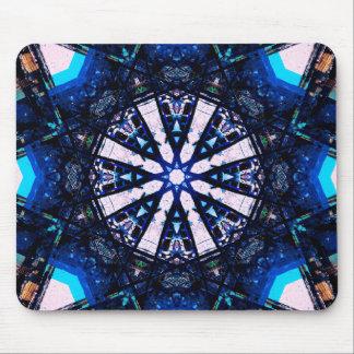 Blur Fractal Star Mandala Mouse Pad
