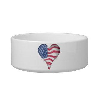Blur Painting USA Flag Bowl