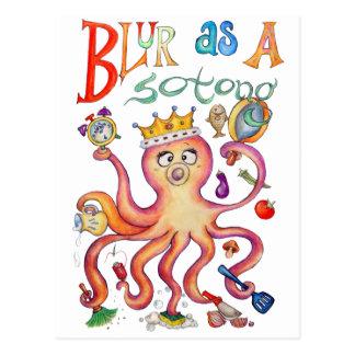 Blur Queen Postcard