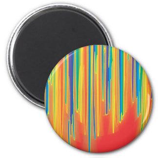 Blur - Red 2 Inch Round Magnet