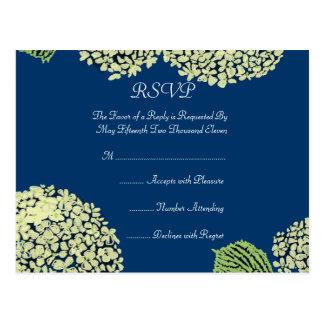 Blurberry Hydrangea RSVP Post Card