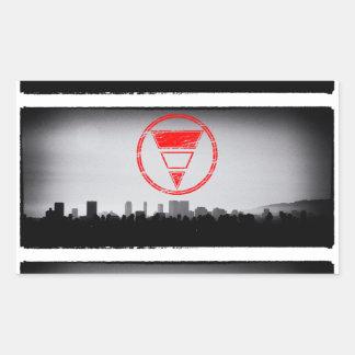 Blurd Los Angeles Rectangular Sticker