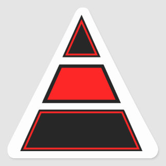 Blurdvizionz 4arm Logo Triangle Sticker