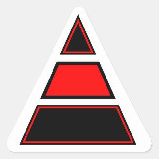 Blurdvizionz 4arm Logo Triangle Sticker