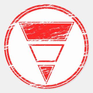 Blurdvizionz Logo Classic Round Sticker