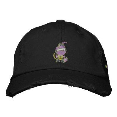 Blurple apenó el casquillo de la tela cruzada del  gorra bordada