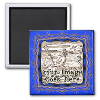 Blurple Blue Purple Fantasy Frame Template Magnet