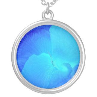 Blurple Flower Necklace