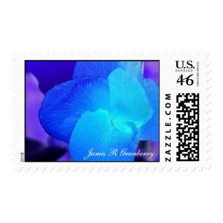 Blurple Flower postage stamps