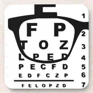 Blurr Eye Test Chart Beverage Coaster
