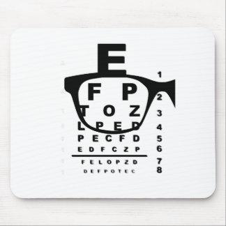Blurr Eye Test Chart Mouse Pad