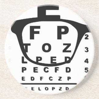 Blurr Eye Test Chart Sandstone Coaster