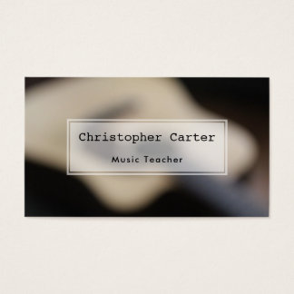 Blurred Acoustic Guitar, Artistic Photo Business Card