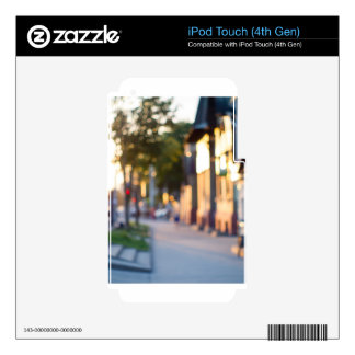 Blurred and out of focus image of streets iPod touch 4G decal