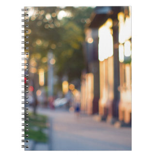 Blurred and out of focus image of streets notebook