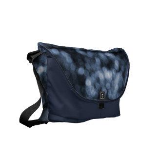 Blurred Blue Dots Messenger Bag