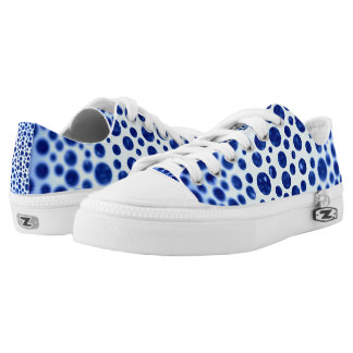 Blurred Blue Dots Printed Shoes