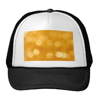BLURRED BOTEK GOLDEN YELLOW CIRCLES PATTERN DIGITA HATS