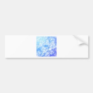 Blurred bubbles over blue bumper sticker