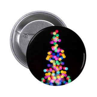 Blurred Christmas Lights 2 Inch Round Button