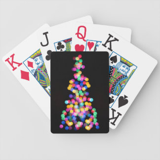 Blurred Christmas Lights Bicycle Playing Cards