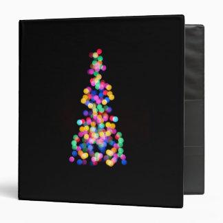 Blurred Christmas Lights Vinyl Binders