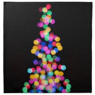 Blurred Christmas Lights Cloth Napkin