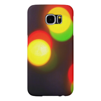 Blurred Christmas Lights Effect Samsung Galaxy S6 Case