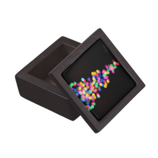 Blurred Christmas Lights Keepsake Box