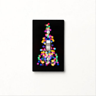 Blurred Christmas Lights Light Switch Cover